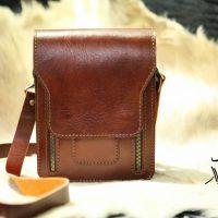 خرید کیف دوشی چرم گاوی مردانه در فروشگاه اینترنتی پوشاکچی-مشاهده قیمت و مشخصات