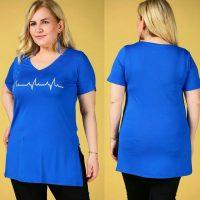 خرید تیشرت زنانه سایزبزرگ نخی در فروشگاه اینترنتی پوشاکچی-مشاهده قیمت و مشخصات