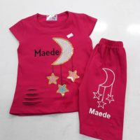 خريد مانتو تیشرت شلوارک دخترانه طرح ماه و ستاره در فروشگاه اينترنتي پوشاکچي - مشاهده قيمت و مشخصات