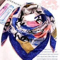 خريد روسری نخی رنگ آبی در فروشگاه اينترنتي پوشاکچي - مشاهده قيمت و مشخصات