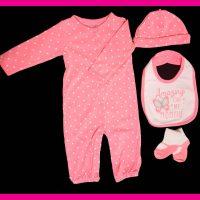 خريد ست نوزادی دخترانه طرح خال خال در فروشگاه اينترنتي پوشاکچي - مشاهده قيمت و مشخصات