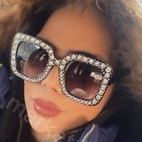 خريد عینک دودی نگین دار برند Gucci در فروشگاه اينترنتي پوشاکچي - مشاهده قيمت و مشخصات