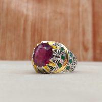 خرید انگشتر مردانه یاقوت سرخ در فروشگاه اینترنتی پوشاکچی-مشاهده قیمت و مشخصات