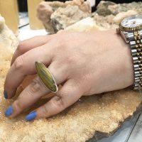 خرید انگشتر نقره زنانه سنگ چشم ببر در فروشگاه اینترنتی پوشاکچی-مشاهده قیمت و مشخصات