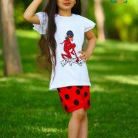 خرید ست سه تیکه دختر کفشدوزکی در فروشگاه اینترنتی پوشاکچی-مشاهده قیمت و مشخصات