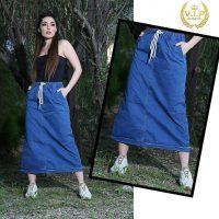 خرید دامن زنانه جین کاغذی در فروشگاه اینترنتی پوشاکچی-مشاهده قیمت و مشخصات