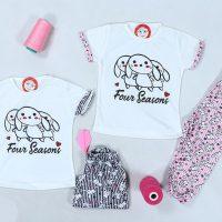 خرید تیشرت و شلوارک دخترانه خرگوش KH1009 در فروشگاه اینترنتی پوشاکچی-مشاهده قیمت و مشخصات