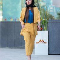 خرید کت شلوار زنانه کرپ مازراتی در فروشگاه اینترنتی پوشاکچی-مشاهده قیمت و مشخصات
