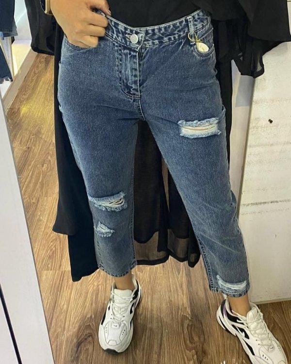 خريد شلوار جین مام فیت زاپ دار زنانه در فروشگاه اينترنتي پوشاکچي - مشاهده قيمت و مشخصات