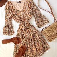 خريد پیراهن گلدار آستین دار زنانه در فروشگاه اينترنتي پوشاکچي - مشاهده قيمت و مشخصات