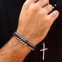 خريد دستبند تمام استیل مردانه در فروشگاه اينترنتي پوشاکچي - مشاهده قيمت و مشخصات