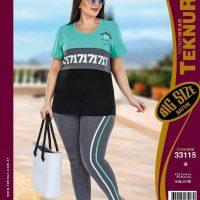 خريد تیشرت شلوار زنانه سایز بزرگ طرح 17 در فروشگاه اينترنتي پوشاکچي - مشاهده قيمت و مشخصات