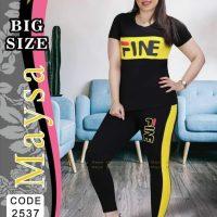 خريد تیشرت شلوار زنانه سایز بزرگ طرح Fine در فروشگاه اينترنتي پوشاکچي - مشاهده قيمت و مشخصات