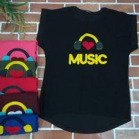 خريد تیشرت زنانه طرح Music در فروشگاه اينترنتي پوشاکچي - مشاهده قيمت و مشخصات