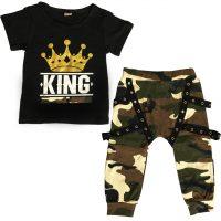 خرید ست تی شرت شلوار پسرانه مدل king در فروشگاه اینترنتی پوشاکچی-مشاهده قیمت و مشخصات