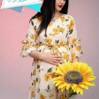 خرید پیراهن بارداری حریر مدل گل آرا در فروشگاه اینترنتی پوشاکچی-مشاهده قیمت و مشخصات