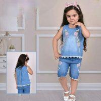 خرید تاپ و شلوارک لی دخترانه 17563 در فروشگاه اینترنتی پوشاکچی-مشاهده قیمت و مشخصات