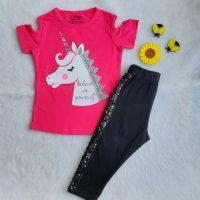 خرید تیشرت و ساپورت دخترانه مدل یونیکورن در فروشگاه اینترنتی پوشاکچی-مشاهده قیمت و مشخصات