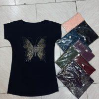 خرید تیشرت زنانه نگین دار کد 18336 در فروشگاه اینترنتی پوشاکچی-مشاهده قیمت و مشخصات