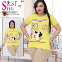 خرید تیشرت زنانه مدل سگ نقاش در فروشگاه اینترنتی پوشاکچی-مشاهده قیمت و مشخصات