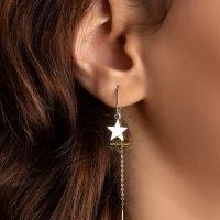خريد گوشواره بخیه ای طرح ستاره در فروشگاه اينترنتي پوشاکچي - مشاهده قيمت و مشخصات