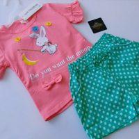 خرید تیشرت و شلوارک دخترانه کد 17404 در فروشگاه اینترنتی پوشاکچی-مشاهده قیمت و مشخصات