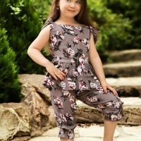 خريد تاپ شلوارک بندی دخترانه طرح گلدار در فروشگاه اينترنتي پوشاکچي - مشاهده قيمت و مشخصات