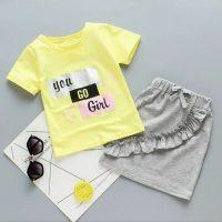 خريد تیشرت شلوارک دخترانه طرح You Go Girl در فروشگاه اينترنتي پوشاکچي - مشاهده قيمت و مشخصات