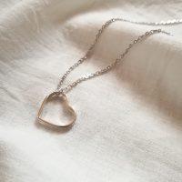خرید عمده و تکی گردنبند نقره طرح قلب کد nc301 در فروشگاه اینترنتی پوشاکچی-مشاهده قیمت و مشخصات