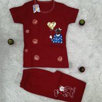 خريد تیشرت شلوارک دخترانه طرح قلبی کد 16367 در فروشگاه اينترنتي پوشاکچي - مشاهده قيمت و مشخصات