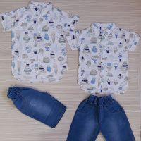 خريد پیراهن شلوارک هاوایی پسرانه کد 17243 در فروشگاه اينترنتي پوشاکچي - مشاهده قيمت و مشخصات