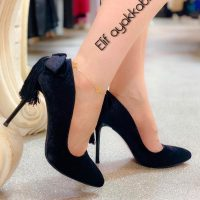 خرید کفش پاشنه دار مدل پشت پاپیون در فروشگاه اینترنتی پوشاکچی-مشاهده قیمت و مشخصات