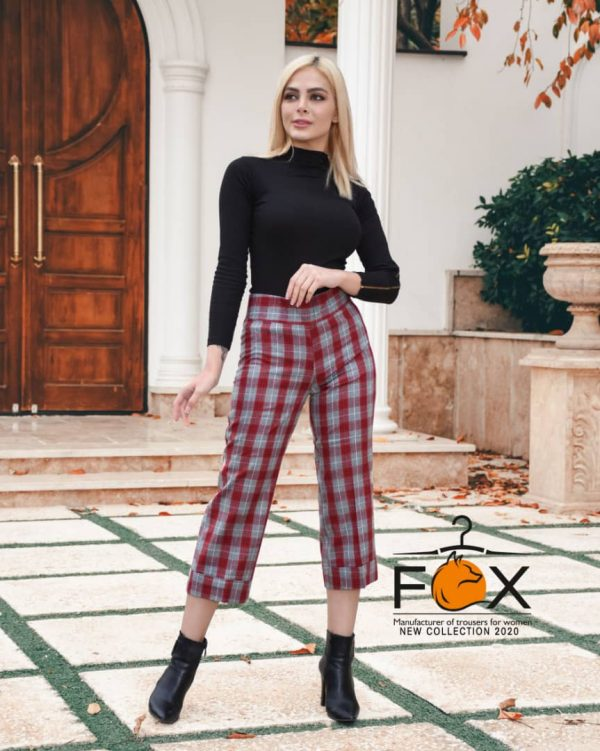 خرید عمده و تکی شلوار چهارخانه پشمی زنانه مدل از بالا گشاد کد f129 در فروشگاه اینترنتی پوشاکچی-مشاهده قیمت و مشخصات