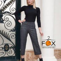 خرید شلوار چهارخانه پشمی زنانه مدل از بالا گشاد کد f129 در فروشگاه اینترنتی پوشاکچی-مشاهده قیمت و وشخصات
