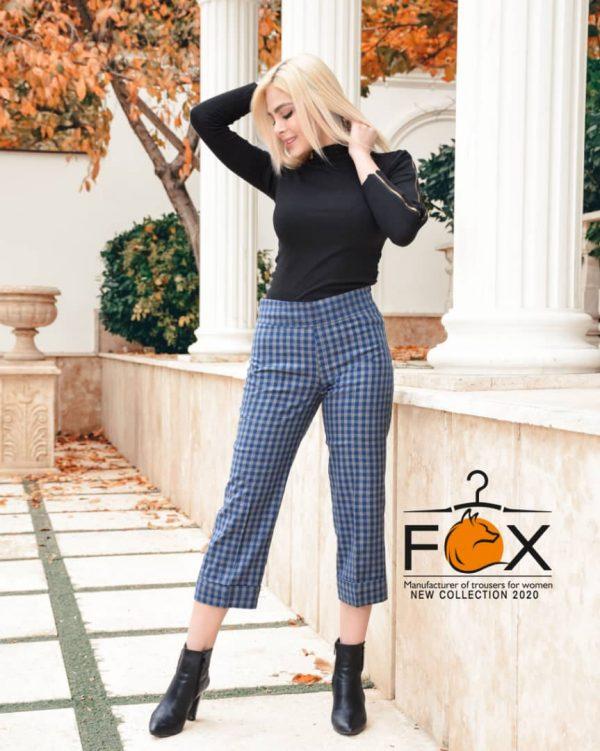 خرید شلوار چهارخانه پشمی زنانه مدل از بالا گشاد کد f129 در فروشگاه اینترنتی پوشاکچی-مشاهده قیمت و مشخصات