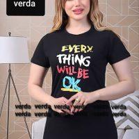 خرید تیشرت یقه گرد زنانه کد ۲۲۵۸7 در فروشگاه اینترنتی پوشاکچی-مشاهده قیمت و محصولات