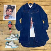 خرید مانتو جین مدل بغل زیپ در فروشگاه اینترنتی پوشاکچی-مشاهده قیمت و مشخصات