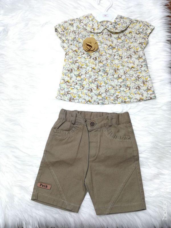 خرید تونیک و شلوارک دخترانه مدل یقه دلبر در فروشگاه اینترنتی پوشاکچی-مشاهده قیمت و مشخصات
