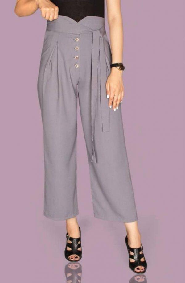 خرید شلوار زنانه مدل از بالا گشاد 6 دکمه در فروشگاه اینترنتی پوشاکچی-مشاهده قیمت و مشخصات